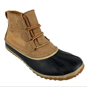 Sorel Womens Out N About Elk Leather Duck Boots 8